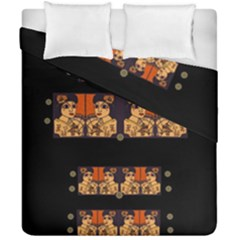 Geisha With Friends In Lotus Garden Having A Calm Evening Duvet Cover Double Side (california King Size)