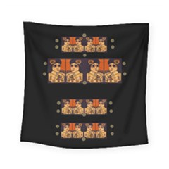 Geisha With Friends In Lotus Garden Having A Calm Evening Square Tapestry (small)