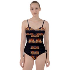 Geisha With Friends In Lotus Garden Having A Calm Evening Sweetheart Tankini Set