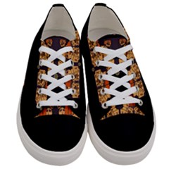 Geisha With Friends In Lotus Garden Having A Calm Evening Women s Low Top Canvas Sneakers
