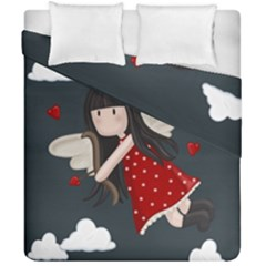 Cupid Girl Duvet Cover Double Side (california King Size)