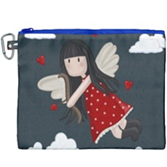 Cupid Girl Canvas Cosmetic Bag (xxxl)