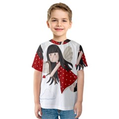 Cupid Girl Kids  Sport Mesh Tee