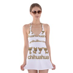 Chihuahua Halter Dress Swimsuit