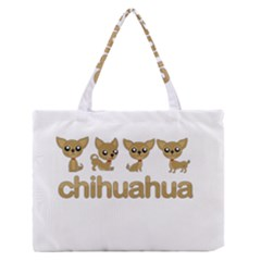 Chihuahua Zipper Medium Tote Bag