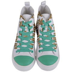 Chihuahua Women s Mid Top Canvas Sneakers
