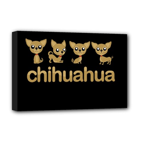 Chihuahua Deluxe Canvas 18  X 12