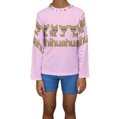 Chihuahua Kids  Long Sleeve Swimwear