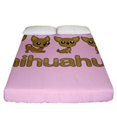 Chihuahua Fitted Sheet (king Size)