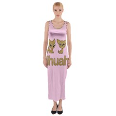 Chihuahua Fitted Maxi Dress