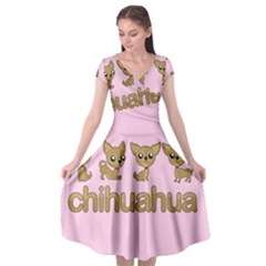 Chihuahua Cap Sleeve Wrap Front Dress