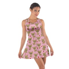 Chihuahua Pattern Cotton Racerback Dress