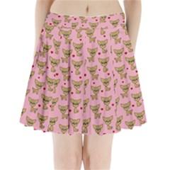 Chihuahua Pattern Pleated Mini Skirt