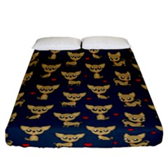 Chihuahua Pattern Fitted Sheet (california King Size)