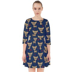 Chihuahua Pattern Smock Dress