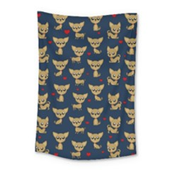 Chihuahua Pattern Small Tapestry