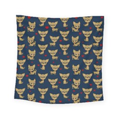 Chihuahua Pattern Square Tapestry (small)