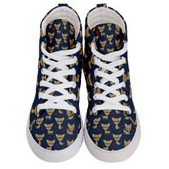 Chihuahua Pattern Men s Hi Top Skate Sneakers