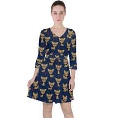 Chihuahua Pattern Ruffle Dress