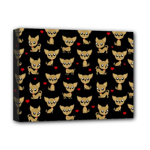 Chihuahua Pattern Deluxe Canvas 16  X 12