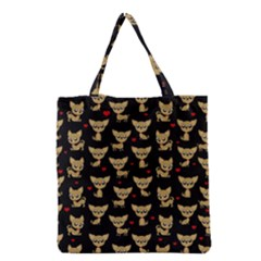 Chihuahua Pattern Grocery Tote Bag