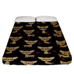 Chihuahua Pattern Fitted Sheet (king Size)