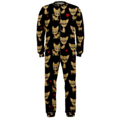 Chihuahua Pattern Onepiece Jumpsuit (men)