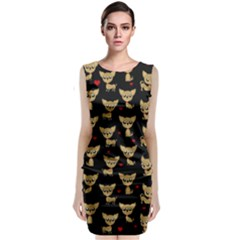 Chihuahua Pattern Classic Sleeveless Midi Dress