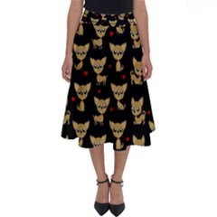 Chihuahua Pattern Perfect Length Midi Skirt