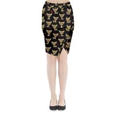 Chihuahua Pattern Midi Wrap Pencil Skirt