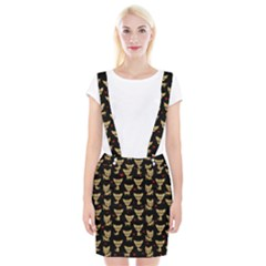 Chihuahua Pattern Braces Suspender Skirt