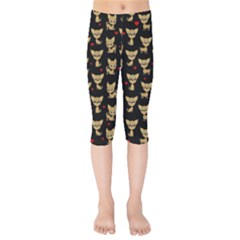 Chihuahua Pattern Kids  Capri Leggings