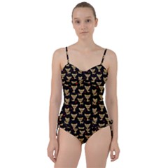 Chihuahua Pattern Sweetheart Tankini Set