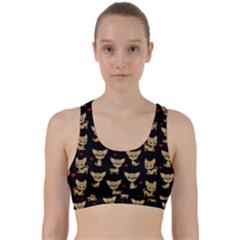 Chihuahua Pattern Back Weave Sports Bra