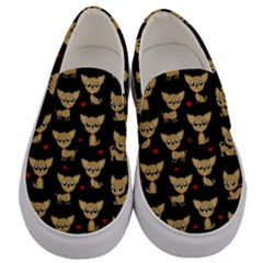 Chihuahua Pattern Men s Canvas Slip Ons