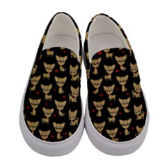 Chihuahua Pattern Women s Canvas Slip Ons