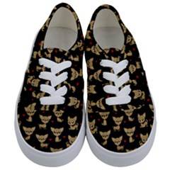 Chihuahua Pattern Kids  Classic Low Top Sneakers