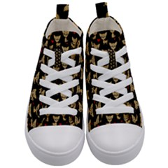 Chihuahua Pattern Kid s Mid Top Canvas Sneakers