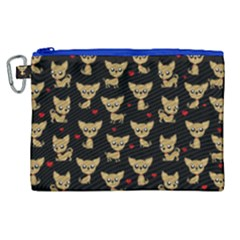 Chihuahua Pattern Canvas Cosmetic Bag (xl)