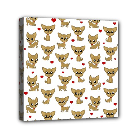 Chihuahua Pattern Canvas Travel Bag