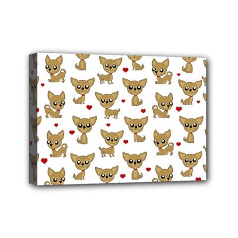 Chihuahua Pattern Mini Canvas 7  X 5