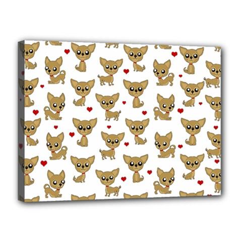 Chihuahua Pattern Canvas 16  X 12