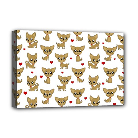 Chihuahua Pattern Deluxe Canvas 18  X 12