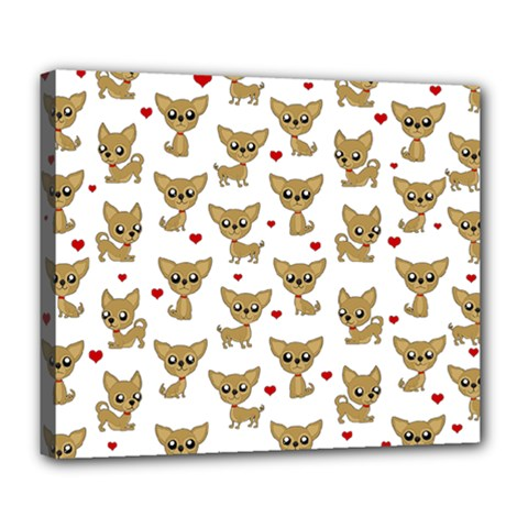 Chihuahua Pattern Deluxe Canvas 24  X 20