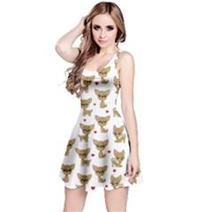 Chihuahua Pattern Reversible Sleeveless Dress