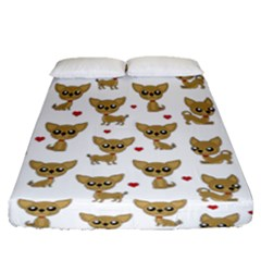 Chihuahua Pattern Fitted Sheet (queen Size)