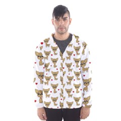 Chihuahua Pattern Hooded Wind Breaker (men)