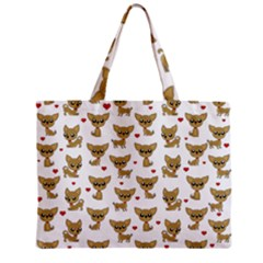 Chihuahua Pattern Zipper Mini Tote Bag