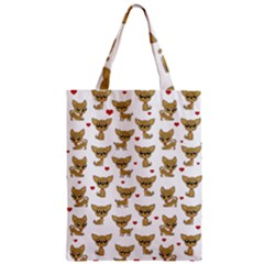 Chihuahua Pattern Zipper Classic Tote Bag