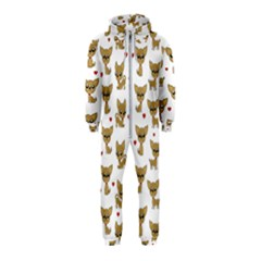 Chihuahua Pattern Hooded Jumpsuit (kids)